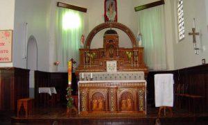 Altar da igreja de Vargem do Cedro